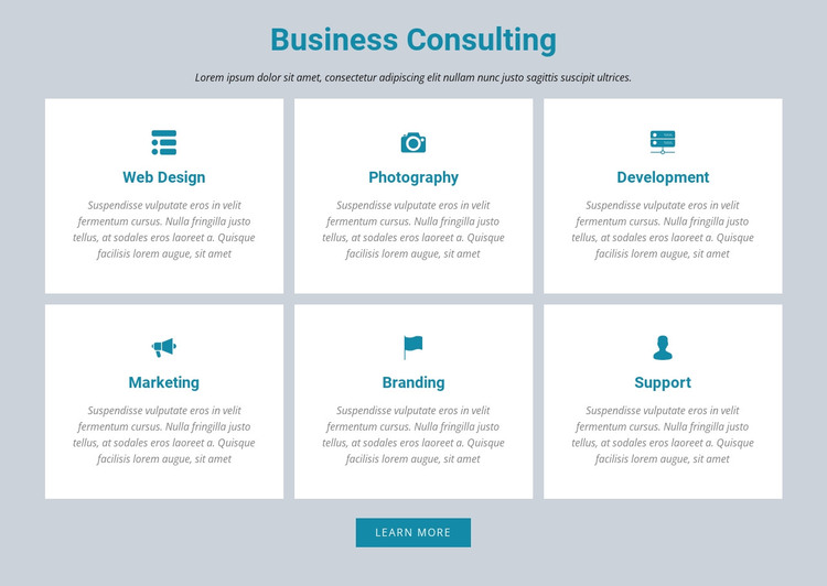 Business Consulting Web Design