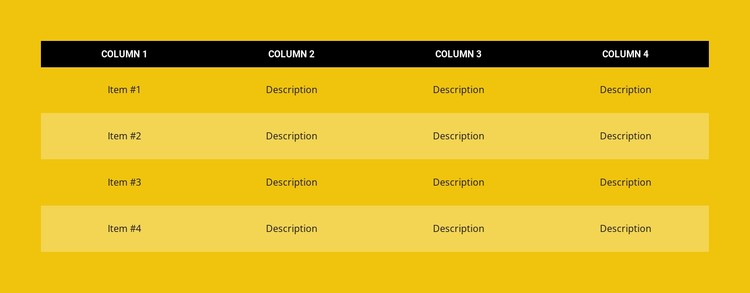 Color table Static Site Generator