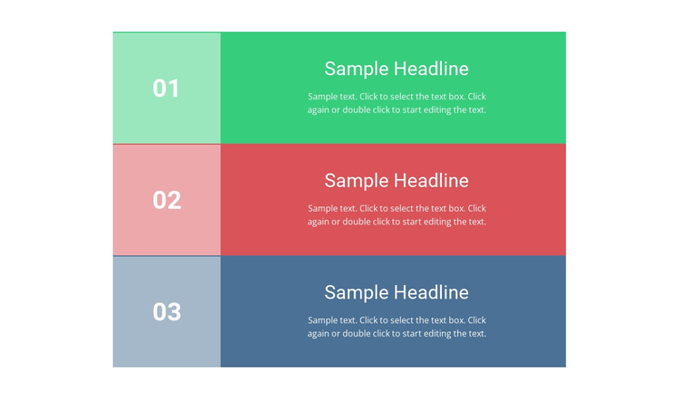 Colored List One Page Template