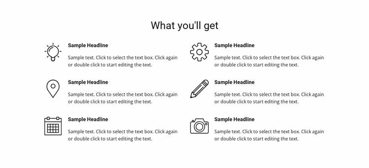 Services list Website Design