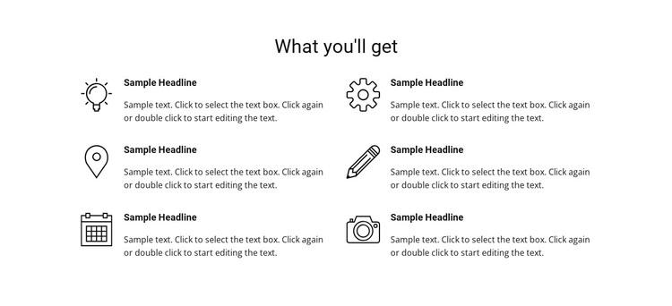 Services list WordPress Theme