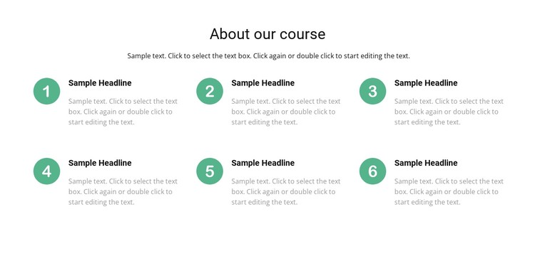 Course list CSS Template