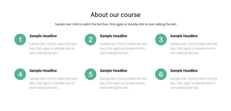 Course list Web Page Design