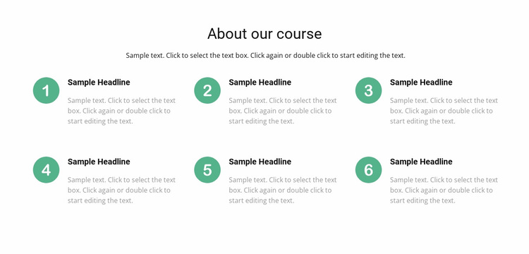 Course list Website Design