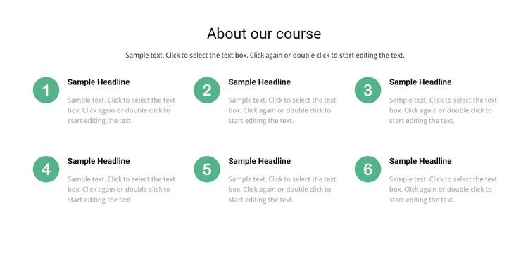 Course list WordPress Theme