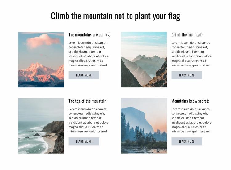 Climb the Mountain Website Template