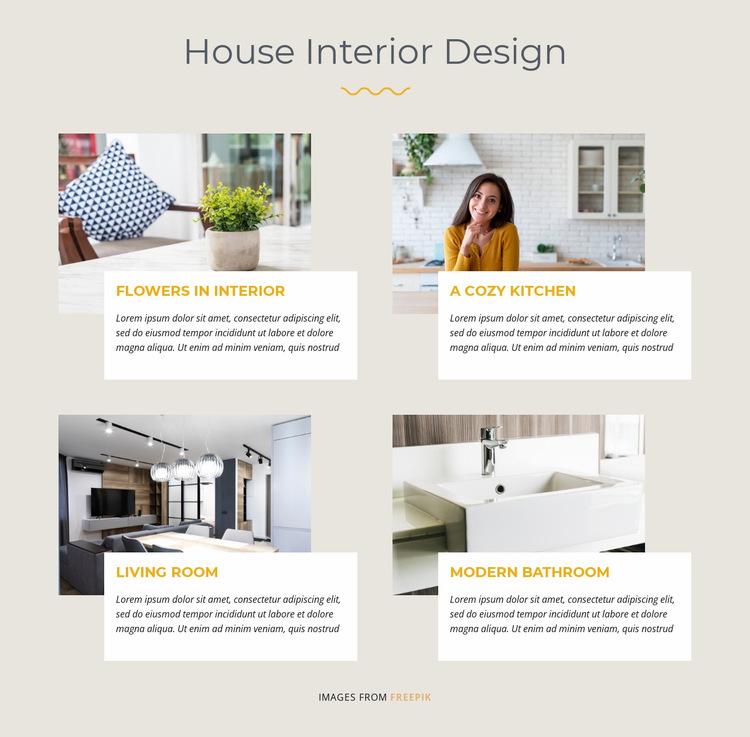 House Interior Design Website Builder Templates