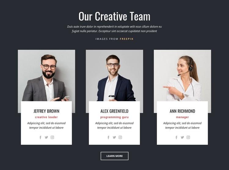 Our Creative Team WordPress Template
