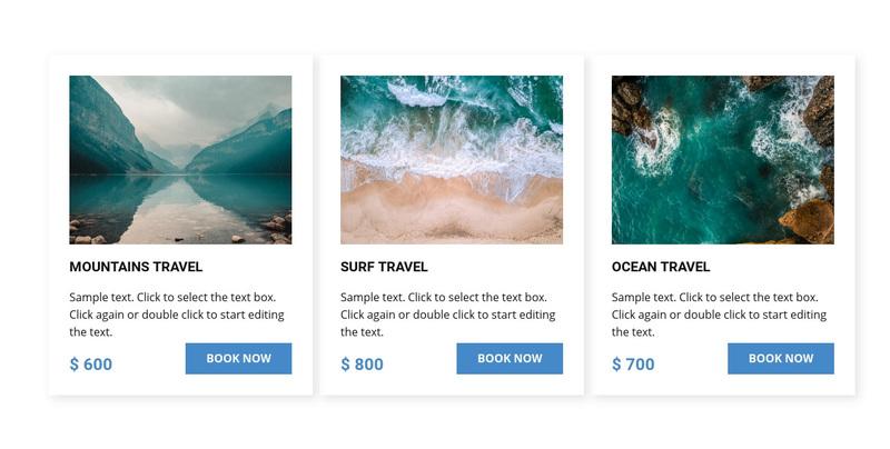 Ocean travel Web Page Design