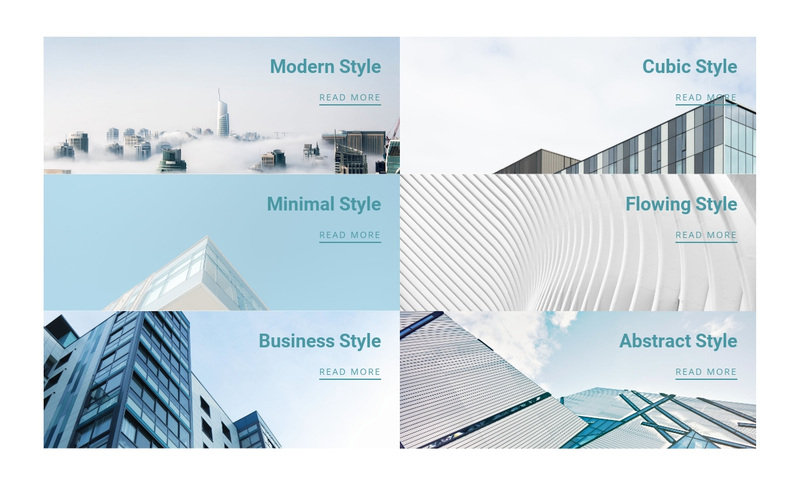 Architecture innovation style Web Page Design