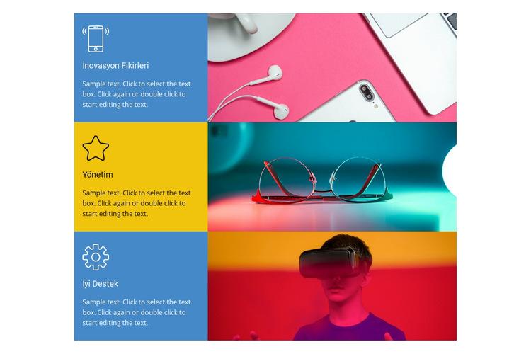 Teknoloji hizmetleri Web Sitesi Şablonu