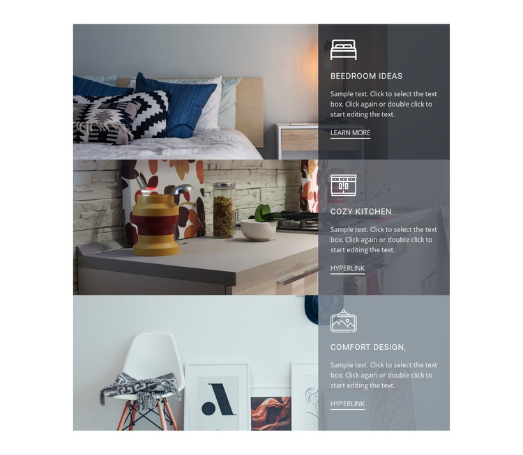 Articles about interior design HTML5 Template