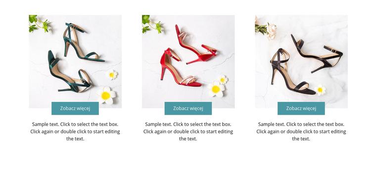 Kolekcja wiosenna Szablon witryny sieci Web