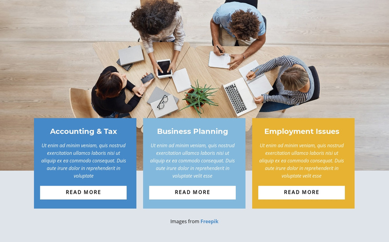 Build a customer-focused organization Web Page Design