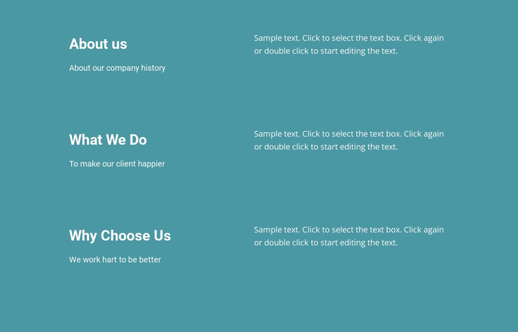 About Our Company Web Design