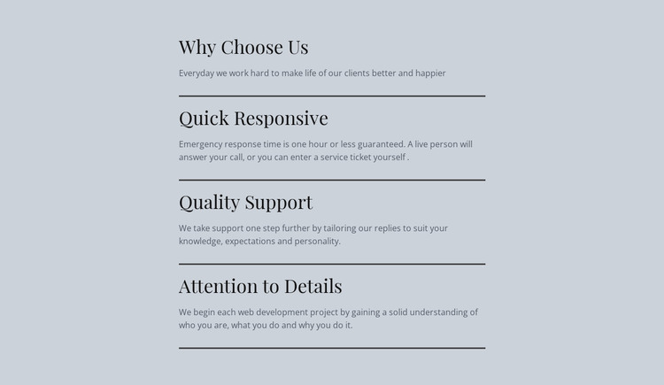 Our Features Web Design