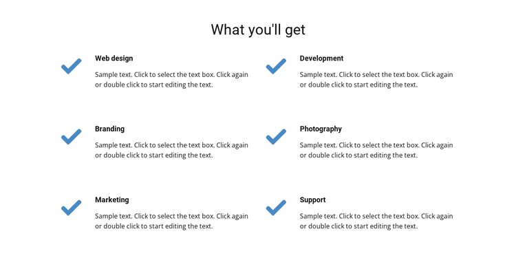 What you'll get CSS Template