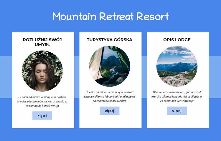 Ośrodek Mountain Retreat Szablon Joomla