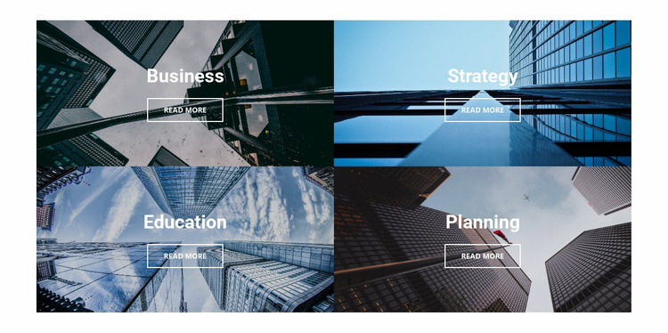 Business architecture Website Mockup