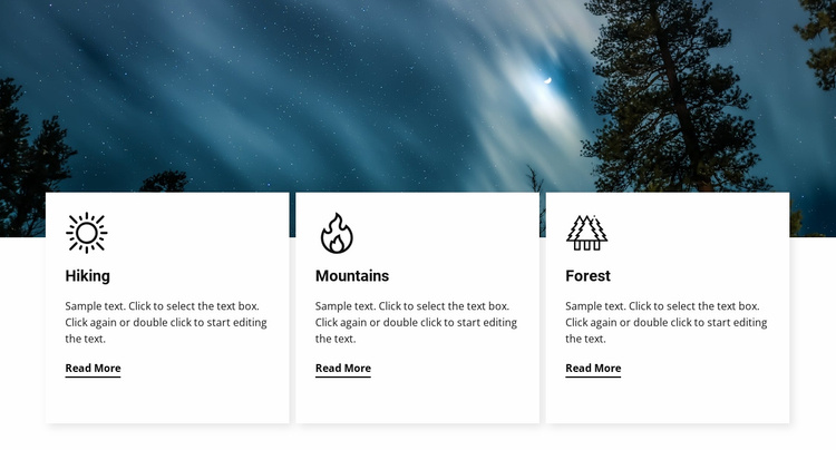 Travel services Landing Page