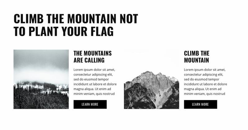 Preparing for the hike Website Creator