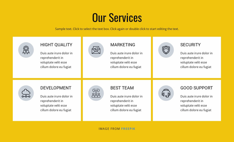 Marketing and sales solutions Website Mockup