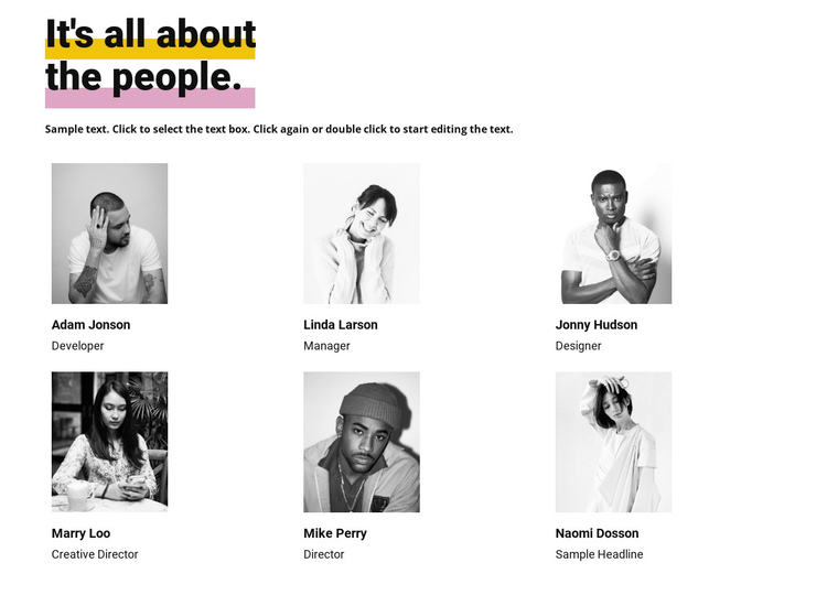 It s all about the people One Page Template