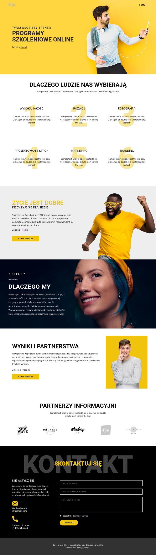 Znajomość szkoły szkoleniowej Szablon witryny sieci Web
