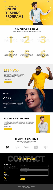 Knowledge of training school Web Page Designer