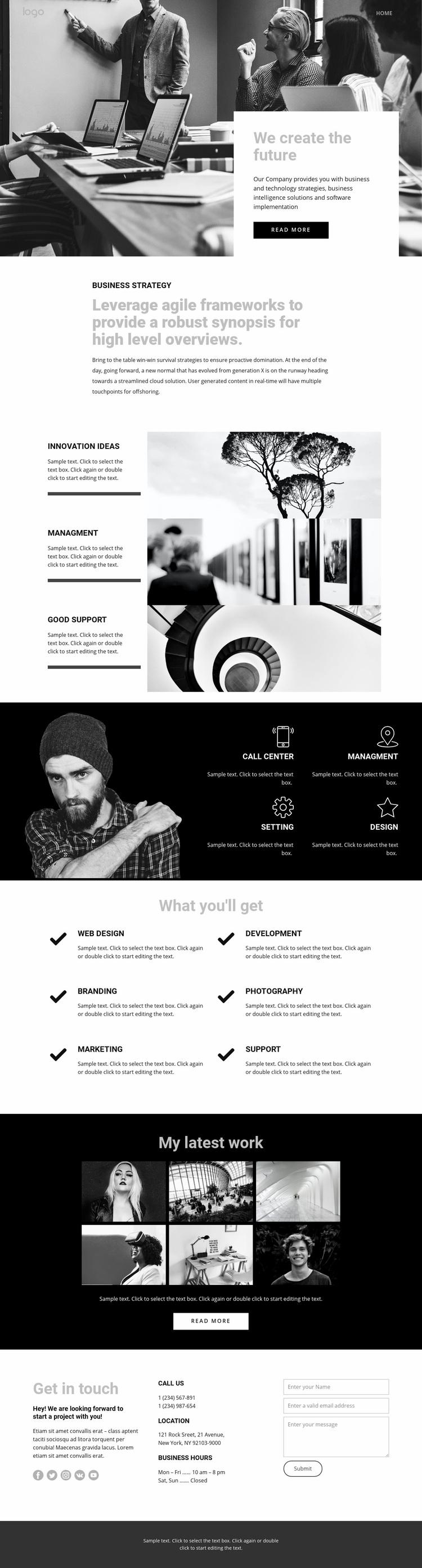 Future of corporate business Web Page Designer
