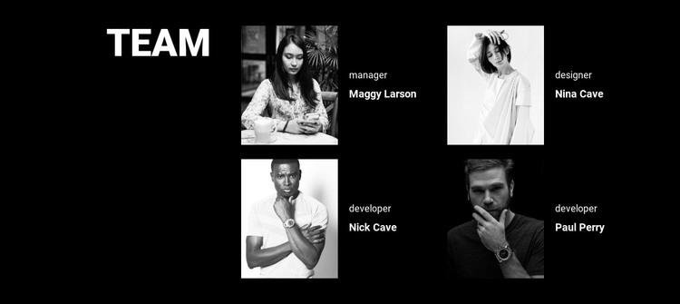 Software development team HTML Template
