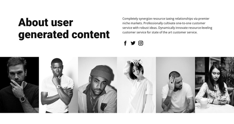 About user content HTML Template