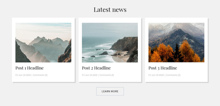 Mountains Blog HTML5 Template