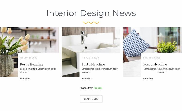 Design studio news Website Design