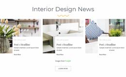 Interior Design News Website Template