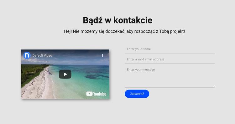 Skontaktuj się i obejrzyj wideo Szablon Joomla