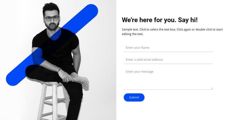 Say hi CSS Template
