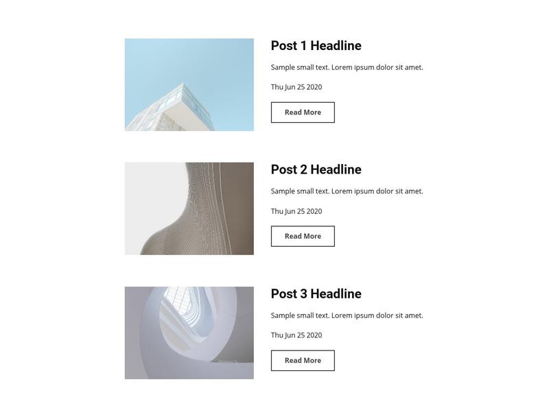 Architecture design news Web Page Design