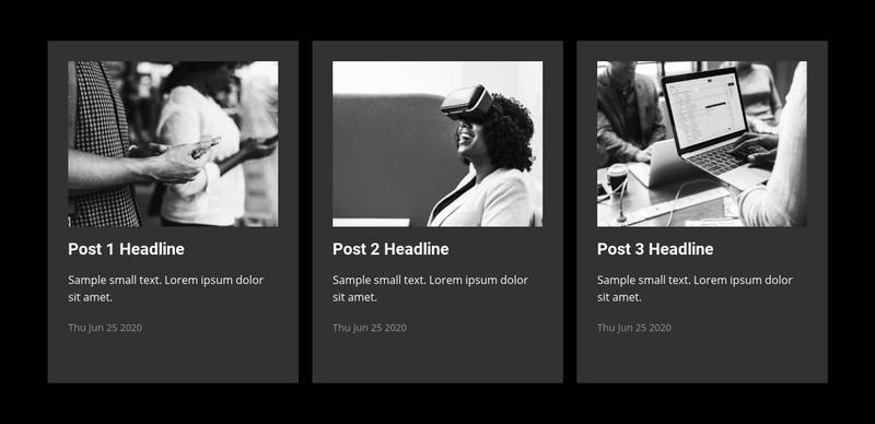 Business news Web Page Design