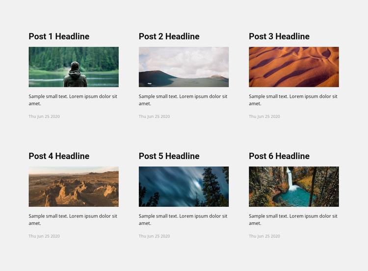 Travel news Landing Page