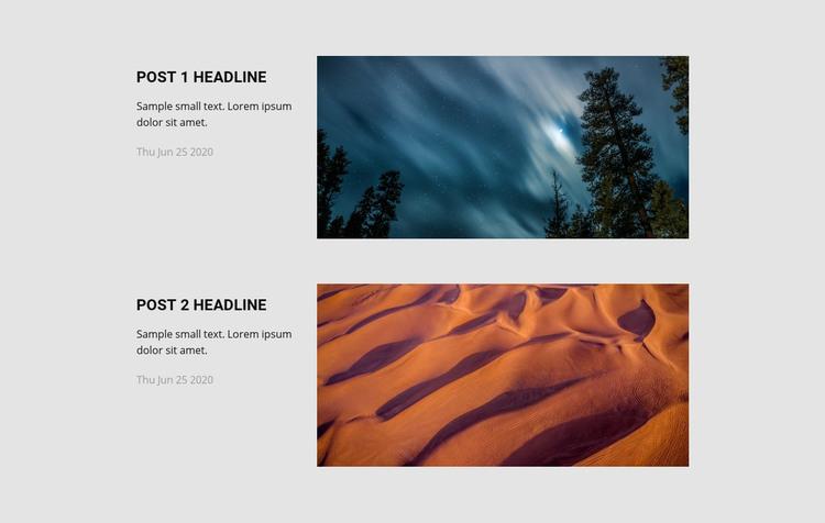 Travel agency news Homepage Design