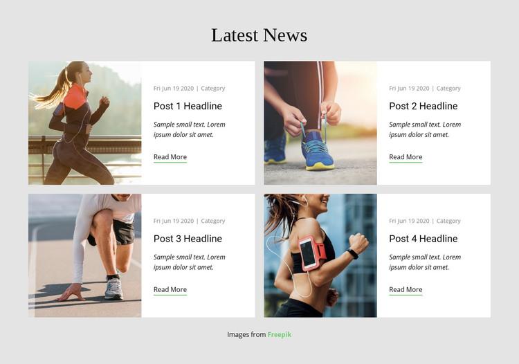 Latest News Homepage Design