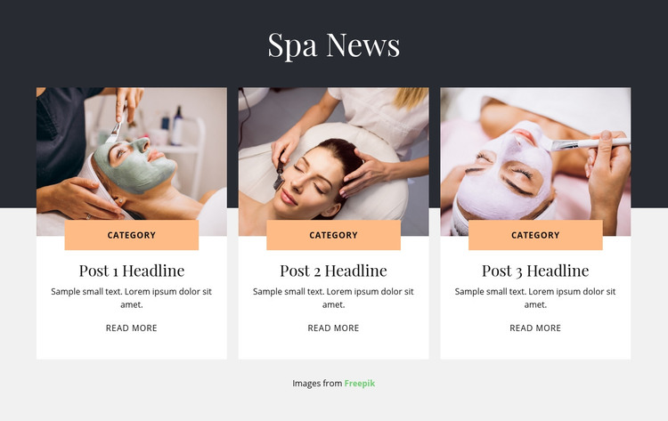 Spa News Homepage Design