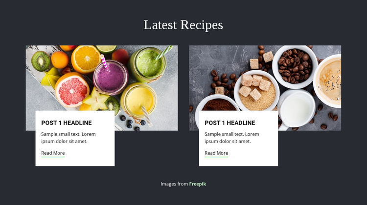Latest Recipes Web Design