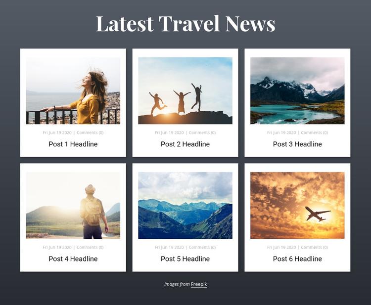 Latest Travel News Homepage Design
