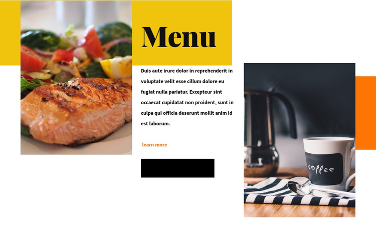 About Restaurant One Page Template