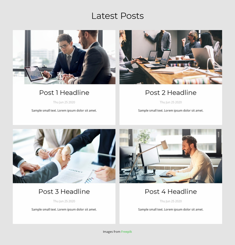 Latests Posts Website Template