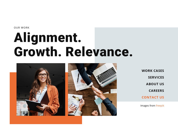 Alignment, Grow, Relevance Template