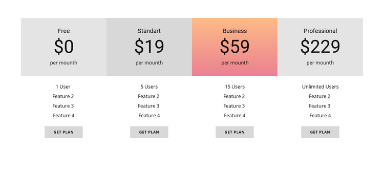 How to price your product Homepage Design