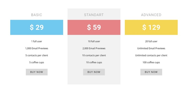 Cost-plus pricing CSS Template